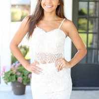 Love Games Two Piece Set Dress - Ivory