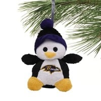 Baltimore Ravens Plush Penguin Ornament