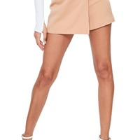 Missguided Side Ring Faux Wrap Shorts | Nordstrom