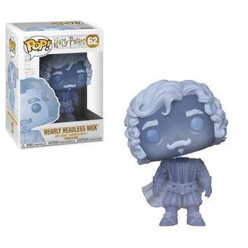 Funko Pop: Harry Potter-Nearly Headless Nick (Blue Translucent), Multicolor