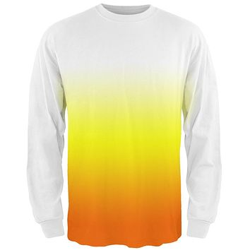Halloween Candy Corn Ombre Costume All Over Mens Long Sleeve T Shirt