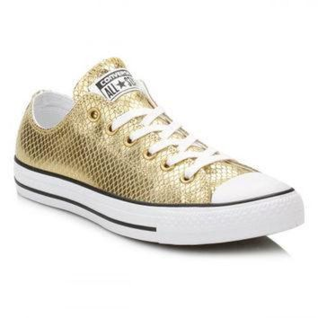 DCKL9 Converse Gold Metallic Leather Trainers