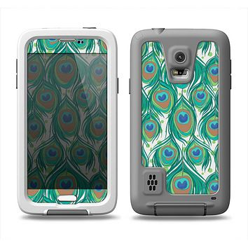 The Peacock Green Feather Bundle Samsung Galaxy S5 LifeProof Fre Case Skin Set
