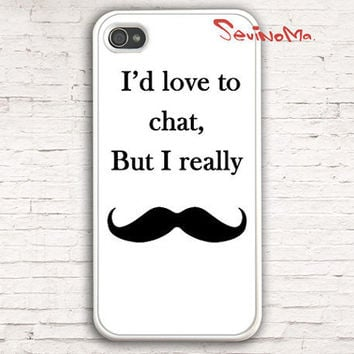 Iphone 4 Case, iPhone 4s Case, iPhone Case, I Love Mustache  iPhone 4 Hard Case