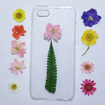 iPhone 6s Case, Clear iPhone 6s Plus Case, iPhone 5 Case Clear, Pressed Flower iPhone 6 Case, iPhone 5c Flower Case, pressed flower case