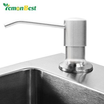 DCCKU7Q Hot 17.6oz / 500ml Stainless Steel Sink Soap Dispenser Pump Lotion Liquid Soap Dispensers for Kitchen Bathroom Accessories
