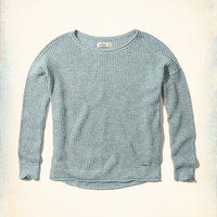 Girls Textured Crew Sweater | Girls Tops | HollisterCo.com