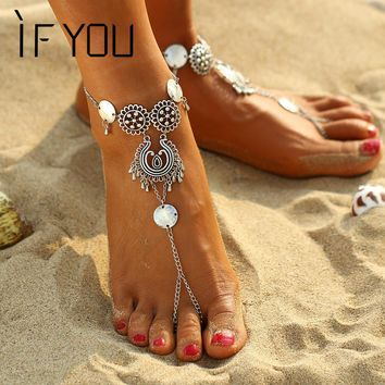 Vintage Bohemian Owl Leisure Bracelet Anklets Jewelry for Women