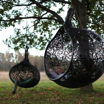 Manu Nest Hanging Chair - contemporary - outdoor chairs -  - by Maffam