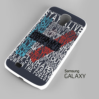 Twenty One Pilots 21 Pilots Lyrics A0787 Samsung Galaxy S3 S4 S5 (Mini) S6 S6 Edge Note 2 3 4 HTC One S X M7 M8 M9