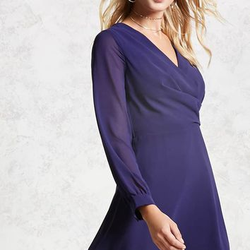 Surplice Chiffon Dress