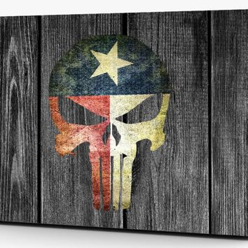 Punisher Distressed Texas Flag Subdued Vinyl Laptop Computer Skin Sticker Decal Wrap Macbook Various Sizes