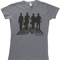 Stand by Me Silhouettes Tracks Tee Shirt Junior-Small