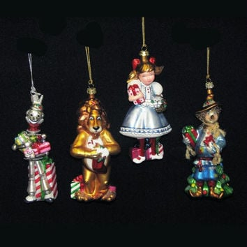 4 Christmas Ornaments - Officially Licensed Wizard Of Oz