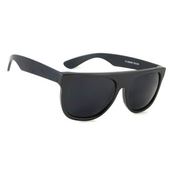 NWT Cool Retro Flat Top Sunglasses Wesley Classic Men Women Black Frame Dark Lens