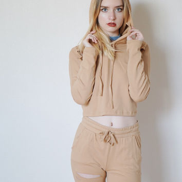 Keke Distressed 2 Piece Set (Taupe)