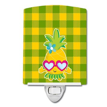 Pineapple Face with Heart Glasses Ceramic Night Light BB8965CNL