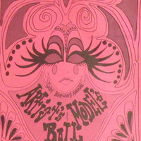 1968 ARTISTS & MODELS BALL invitation - original - Gary Berwin - Los Angeles