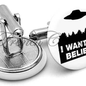 X Files Want To Believe Cufflinks