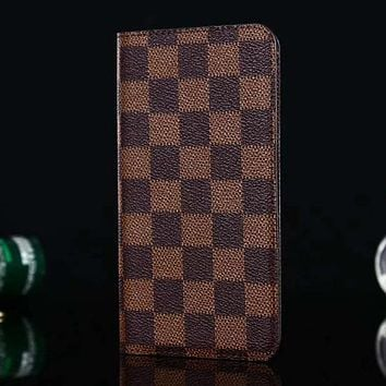 Perfect Louis Vuitton LV Leather Fashion iPhone Phone Cover Case For iphone 6 6s 6plus 6s-plus 7 7plus 8 8plus X