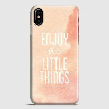 Enjoy The Little Things iPhone X Case | casescraft