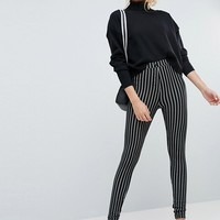 ASOS TALL Skinny Ponte Pinstripe Trousers at asos.com