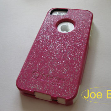 iphone 5 Otterbox case,bling iphone 5 case , light pink iphone 5s case, iphone 5s case,Iphone 5 cover, iphone 5 commuter series