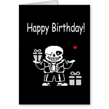 Undertale Birthday Card