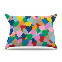 "Kess InHouse Project M ""Move Hearts"" 30 by 20-Inch Pillow Case, Standard"