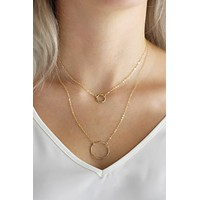 Grande Hammered Ring Necklace - Christine Elizabeth Jewelry