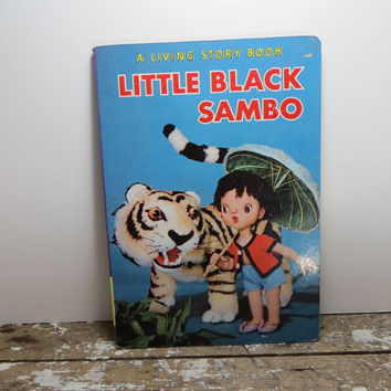 Little Black Sambo Living Story Book Crown Publishers 1967 Black Americana Book Black Memorabilia