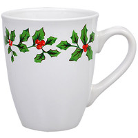 Bulk Holly Berry White Stoneware Mugs, 12 oz. at DollarTree.com