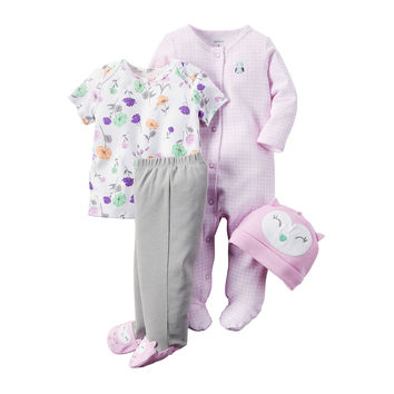 Carter's® 4-pc. Purple Owl Layette Set - Baby Girls newborn-24m - JCPenney