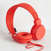 Music Thoroughly Modern Musician Headphones in Tomato by Urbanears from ModCloth