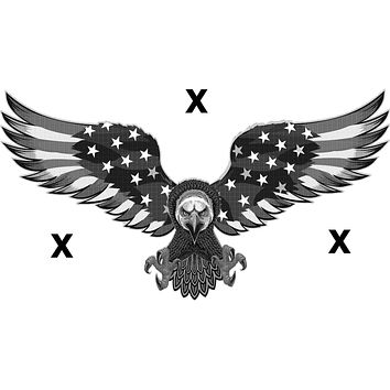 American eagle with the american flag wings - Bald Eagle- Airbrush stencil