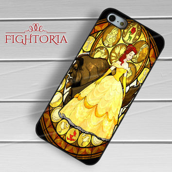 Beauty and the beast Stained Glass Disney - zzZzz for  iPhone 4/4S/5/5S/5C/6/6+s,Samsung S3/S4/S5/S6 Regular/S6 Edge,Samsung Note 3/4