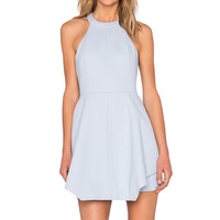 keepsake x REVOLVE To The End Mini Dress in Pastel Blue