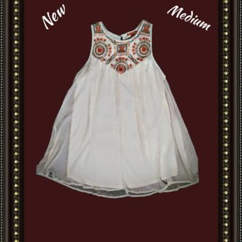 Chelsea and Violet - beautiful embroidered dress - size medium -.