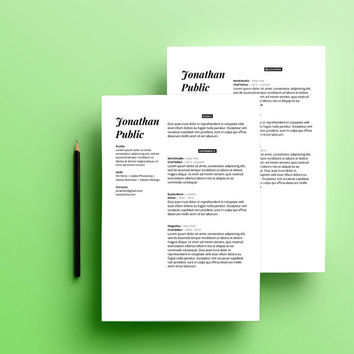 Clean minimal resume template MS Word , modern professional resume design, CV design,  minimal template resume, template CV