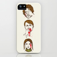 No Evil Hannibal iPhone & iPod Case by Huebucket