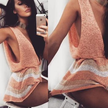 Lila knitted romper