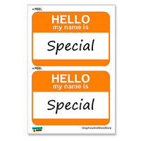 Special Hello My Name Is - Sheet of 2 Stickers