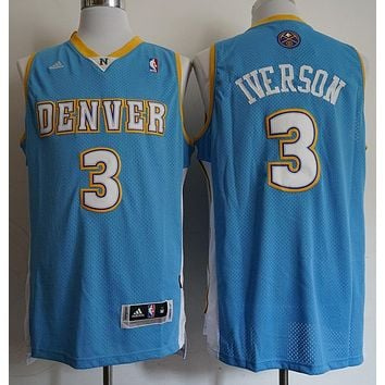 Allen Iverson #3 Denver Nuggets Blue Jerseys