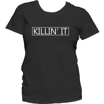Killin' It Men's and/or Women's Graphic T-Shirt Trendy Black T-shirt Cute Short Sleeve Tee