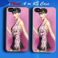 Sexy Girl Katy Perry Singer Custom iPhone 4 or 4S Case Cover