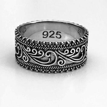Victorian Beaded Ring, Celtic Bead Ring, Sterling Silver Celtic Ring, Celtic Jewelry, Celtic Design, Celtic Knot Ring, Gifts for Her