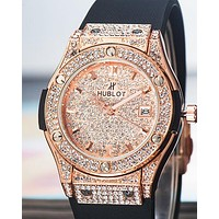 HUBLOT Tide brand Hublot classic series diamond men's quartz watch Rose gold
