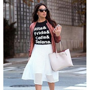 Rita & Frida & Celia & Selena Latina fashion graphic tee