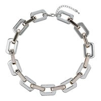 Rectangle Link Chain Necklace - Necklaces - Jewellery - Bags & Accessories - Topshop