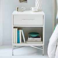 City Storage Nightstand - White Lacquer